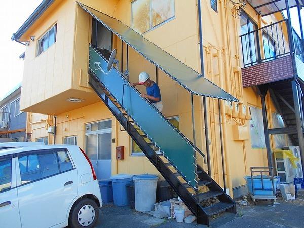 階段テント張替のアイキャッチ画像
