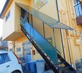 階段テント張替