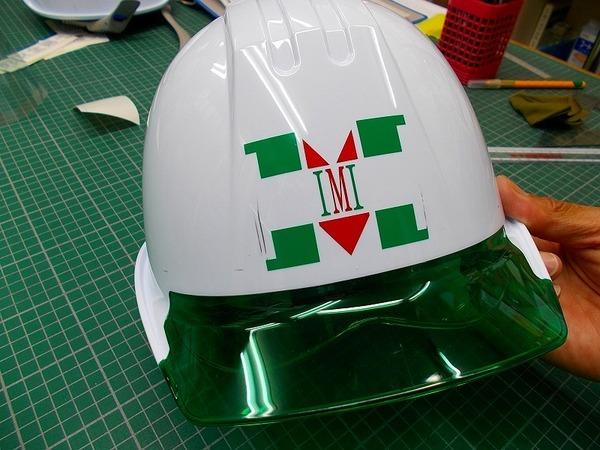 シールドヘルメット 社名マーク入りのアイキャッチ画像